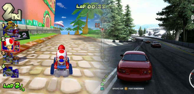 Juxtaposition of Mario Kart vs. Forza
